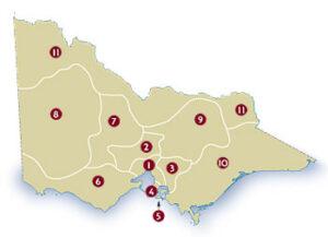 Tourismus-Regionen in Victoria